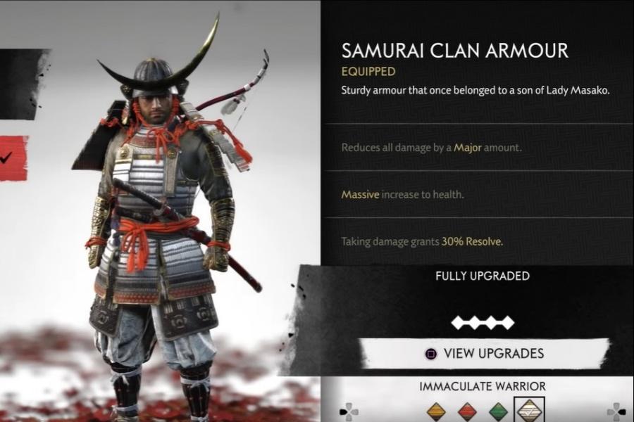 Ghost of Tsushima - Samurai Clan Armor Set