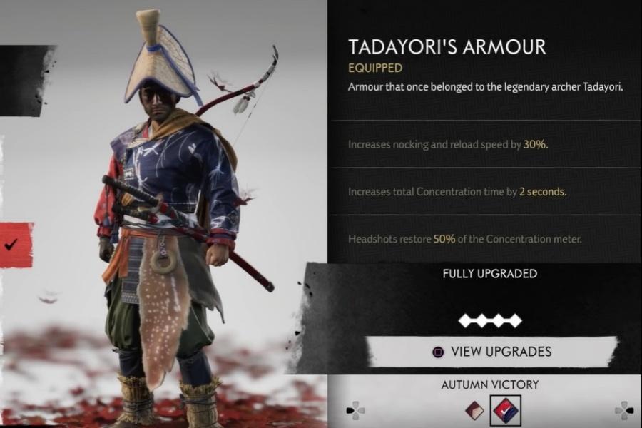 Ghost of Tsushima - Tadayori's Armor Set