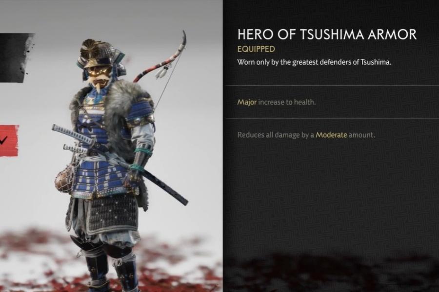 Ghost of Tsushima - Hero of Tsushima Armor Set