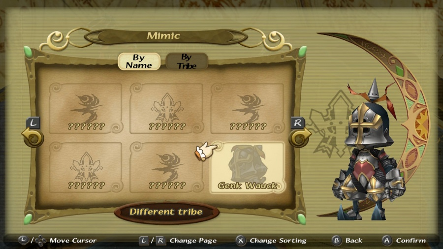 Final Fantasy Crystal Chronicles: Remastered Edition - Genk Wauck Mimic Skin