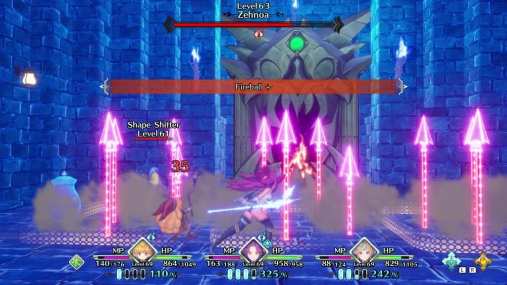 Trials of Mana Remake - Zehnoa Rematch - Avoid Traps