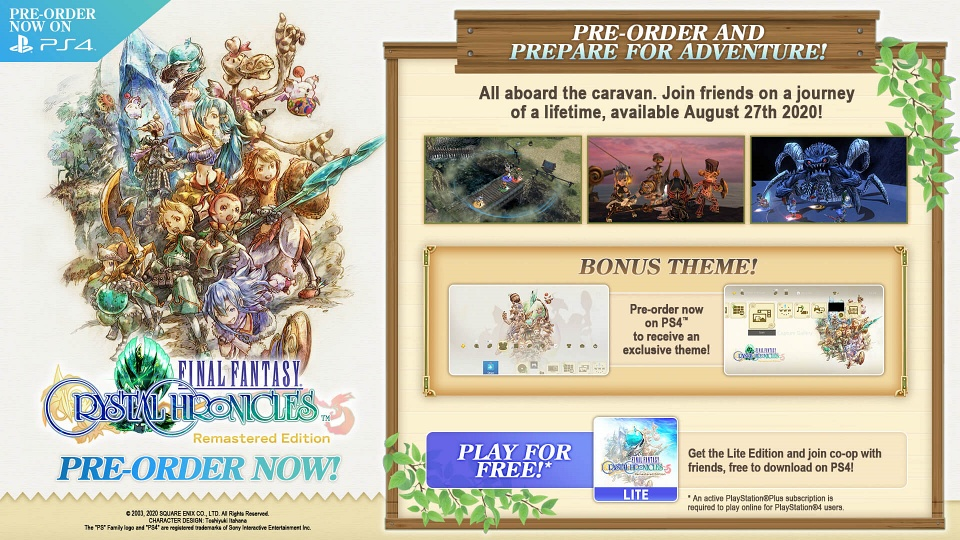 Final Fantasy Crystal Chronicles: Remastered Edition - Pre-Order Bonuses