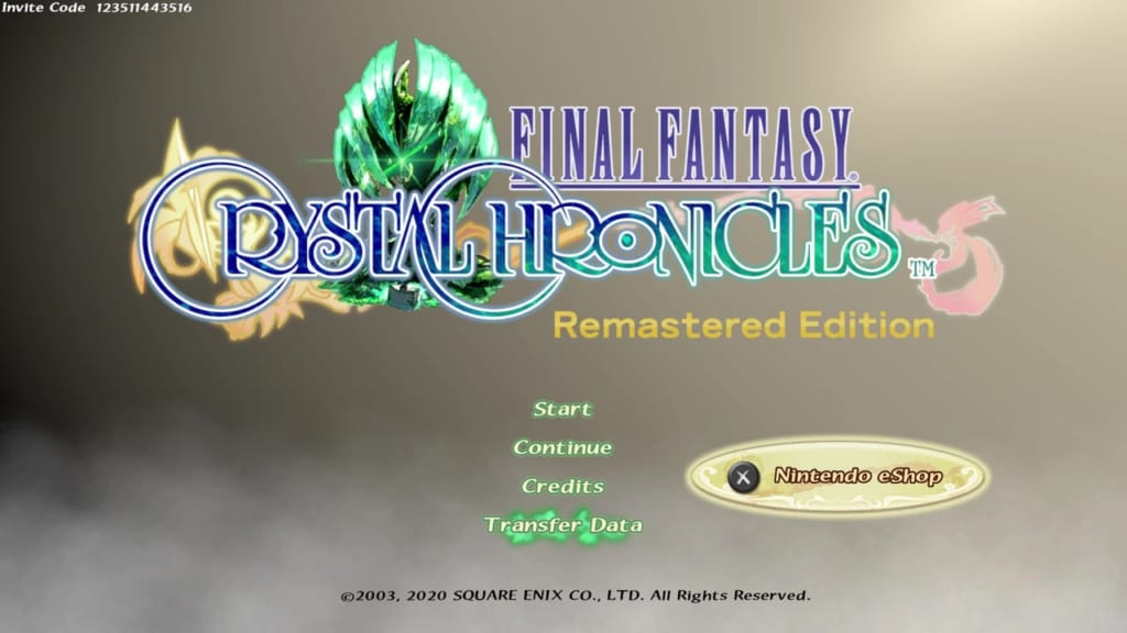 Final Fantasy Crystal Chronicles: Remastered Edition - Transfer Save Data - Lite Edition