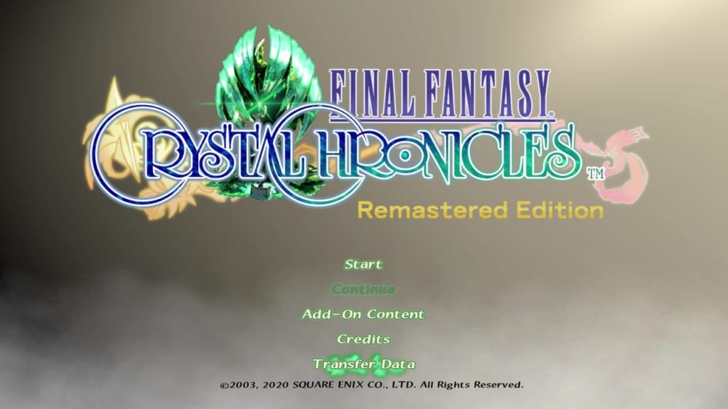 Final Fantasy Crystal Chronicles: Remastered Edition - Transfer Save Data - Full Version