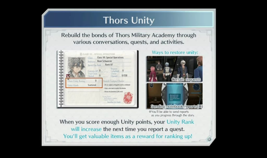 The Legend of Heroes: Trails of Cold Steel 4 - Thors Unity Rank