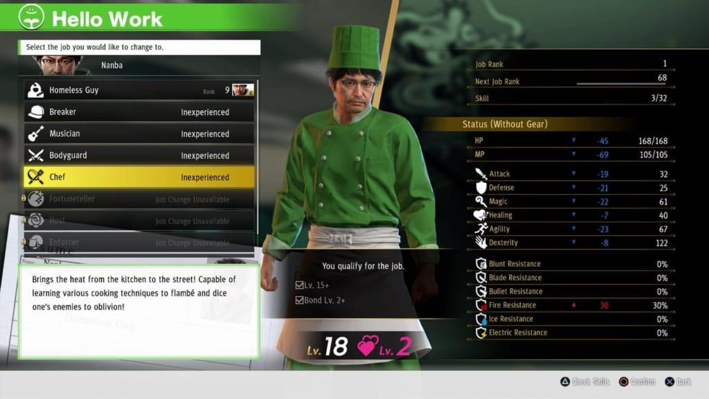 Yakuza: Like a Dragon - Chef Job