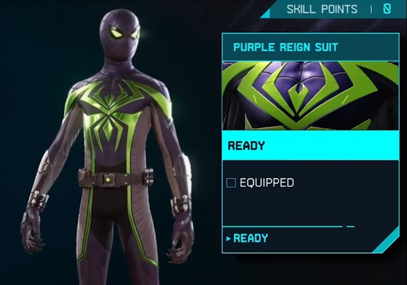Marvel's Spider-Man: Miles Morales - Purple Reign Suit