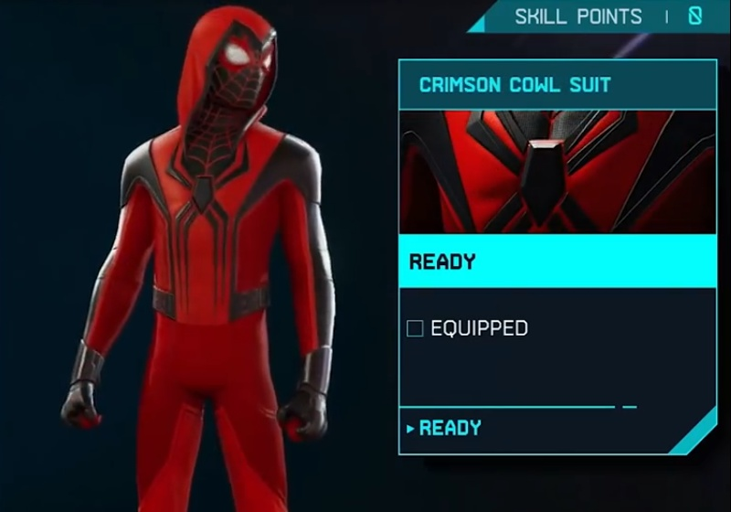 Marvel's Spider-Man: Miles Morales - Crimson Cowl Suit