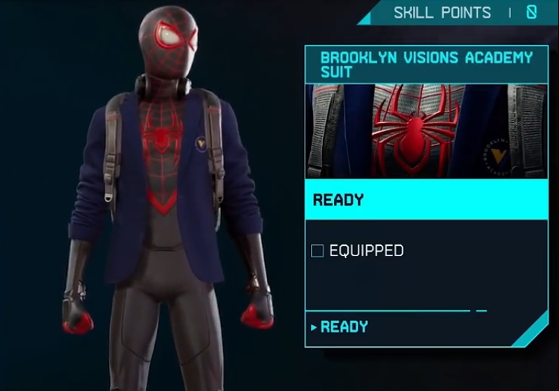 Marvel's Spider-Man: Miles Morales - Brooklyn Visions Academy Suit