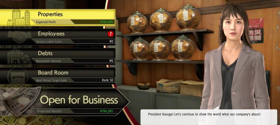 Yakuza: Like a Dragon - Business Management Eri Kamataki