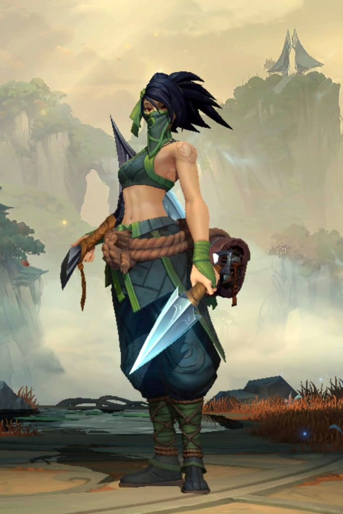 League of Legends: Wild Rift - Akali Default Champion Skin