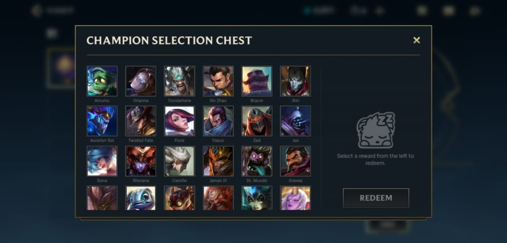 League of Legends: Wild Rift - Champion Selection Chest Redeem