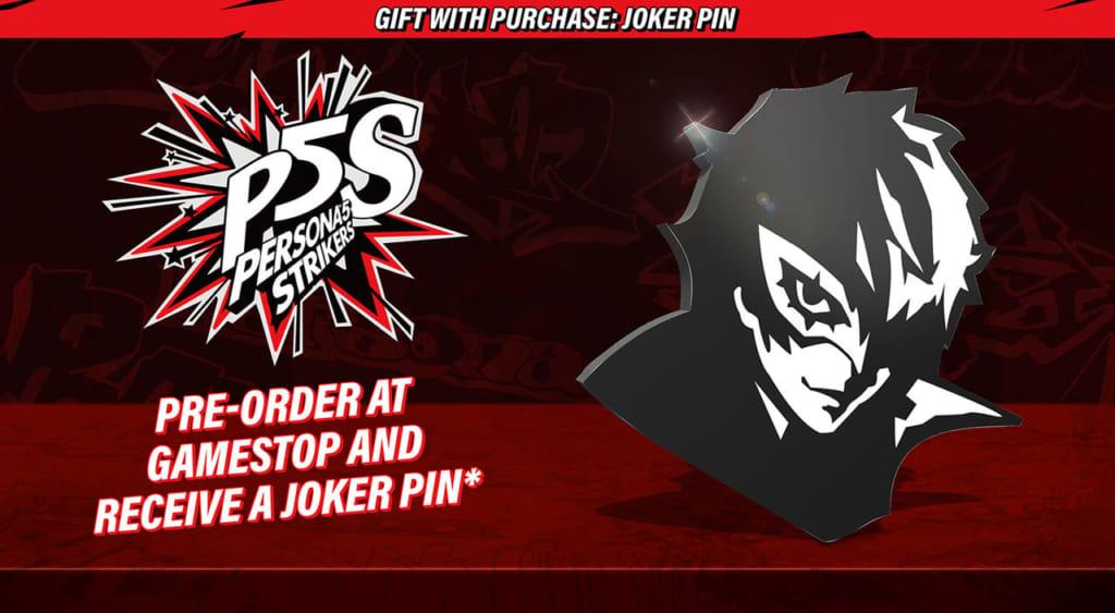 Persona 5 Strikers - Game Stop Joker Pin