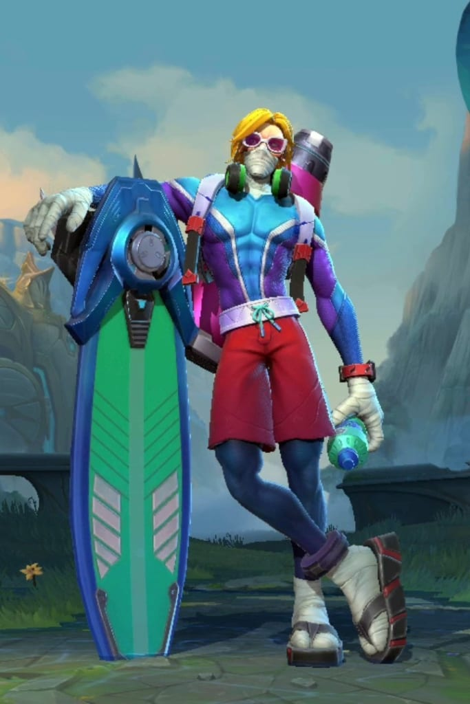 League of Legends: Wild Rift - Singed Surfer Champion Skin