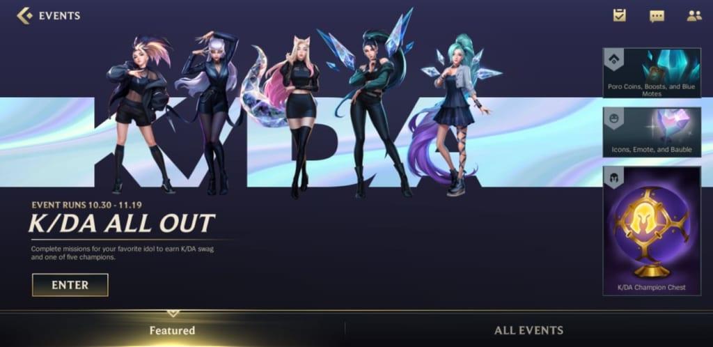 League of Legends: Wild Rift - K/DA All Out Event Rewards