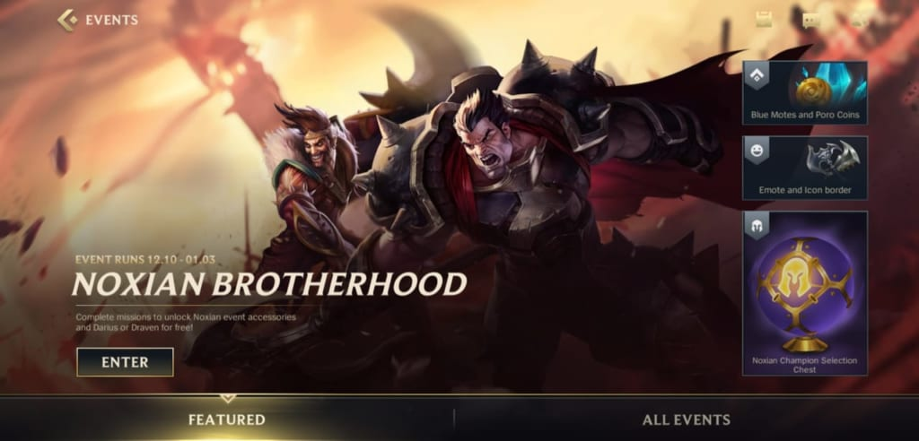 League of Legends: Wild Rift - Noxian Brotherhood Event Guide and Rewards