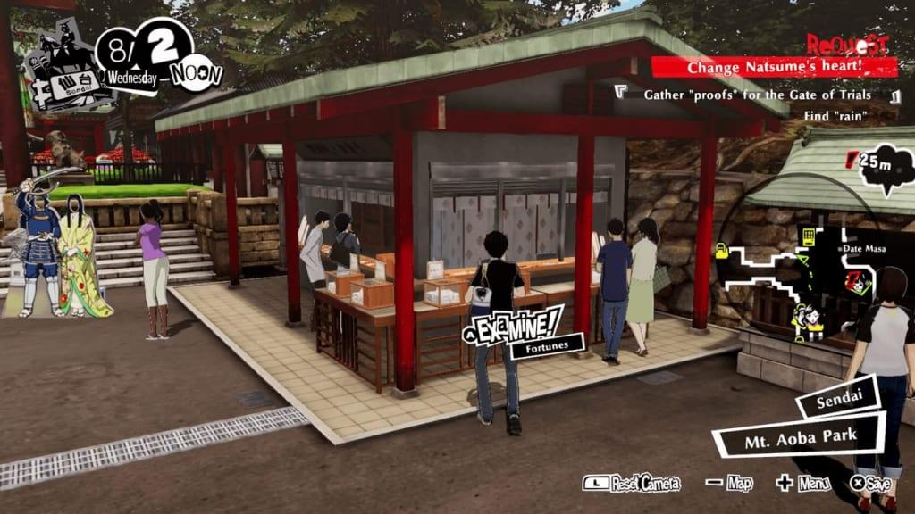 Persona 5 Strikers - Sendai Fortune Omikuji Shop