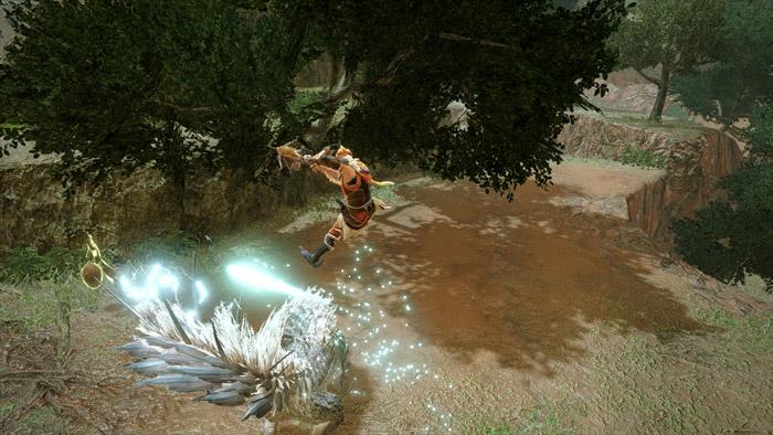 Monster Hunter Rise - Light Bowgun Hunter Silkbind Attack Fanning Vault