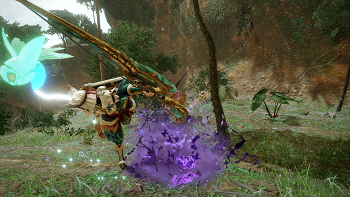 Monster Hunter Rise - Bow Hunter Silkbind Attack Focus Shot