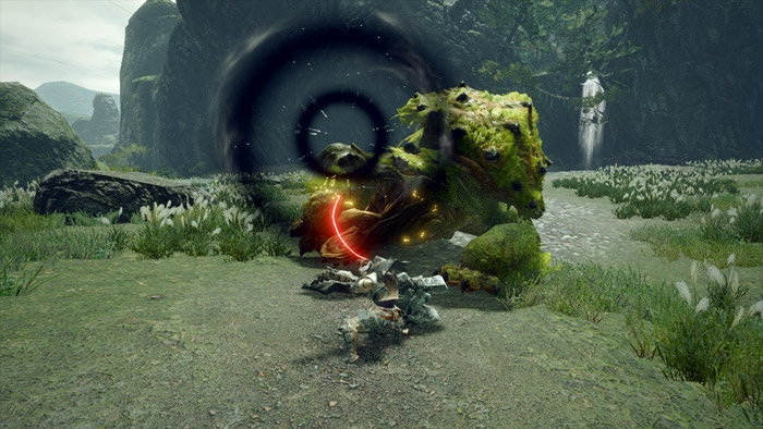 Monster Hunter Rise - Hunting Horn Hunter Silkbind Attack Earthshaker