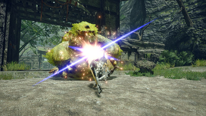 Monster Hunter Rise - Hunting Horn Hunter Silkbind Attack Slide Beat