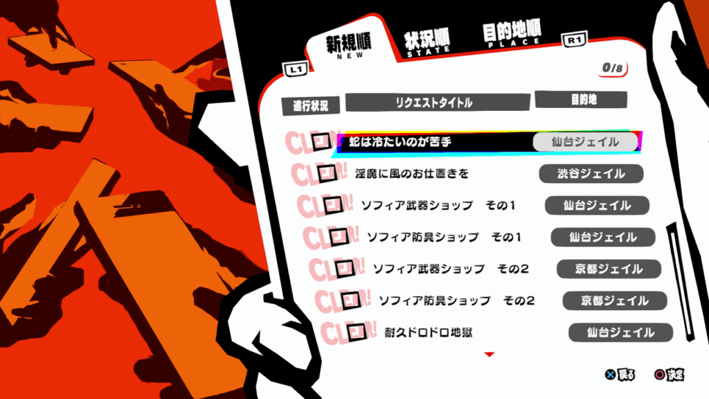 Persona 5 Strikers - All Requests