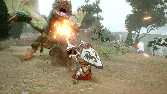 Monster Hunter Rise - Lance Hunter Silkbind Attack Anchor Rage