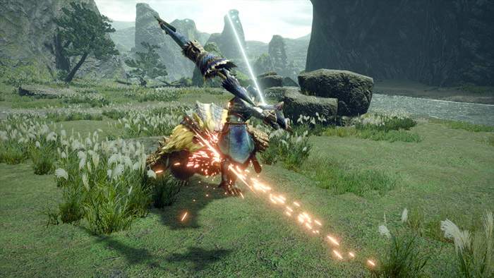 Monster Hunter Rise - Gunlance Hunter Silkbind Attack Hail Cutter