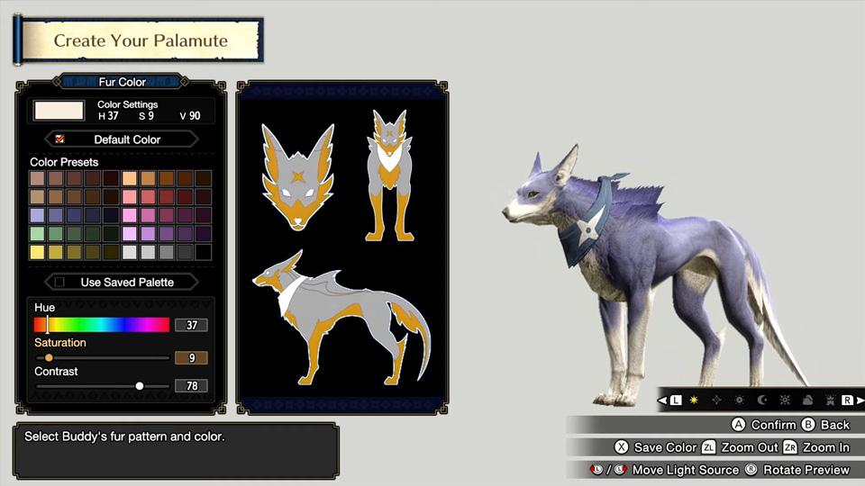 Monster Hunter Rise - Palamute Customization