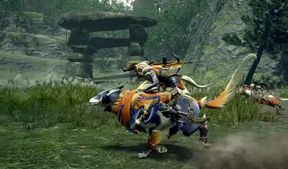 Monster Hunter Rise - Palamute Drift Dash