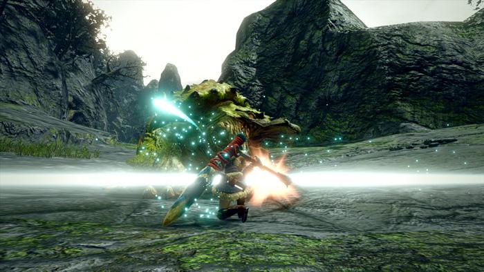 Monster Hunter Rise - Long Sword Hunter Silkbind Attack Sakura Slash