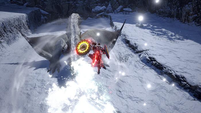Monster Hunter Rise - Dual Blades Hunter Silkbind Attack Tower Vault