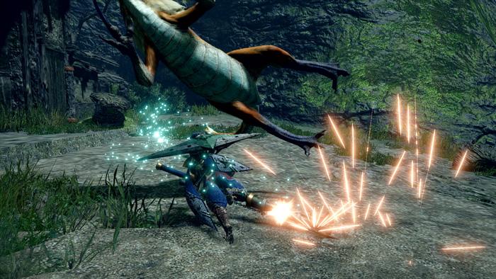 Monster Hunter Rise - Gunlance Hunter Silkbind Attack Ground Splitter