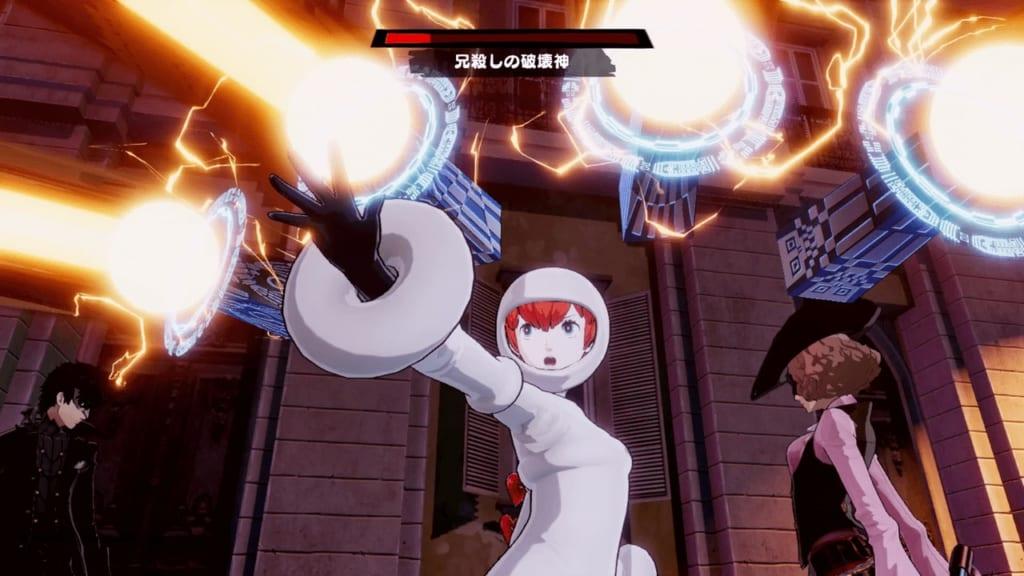 Persona 5 Strikers - Sendai Jail Powerful Shadow Fratricidal Destroyer Seth Use Showtime Attacks