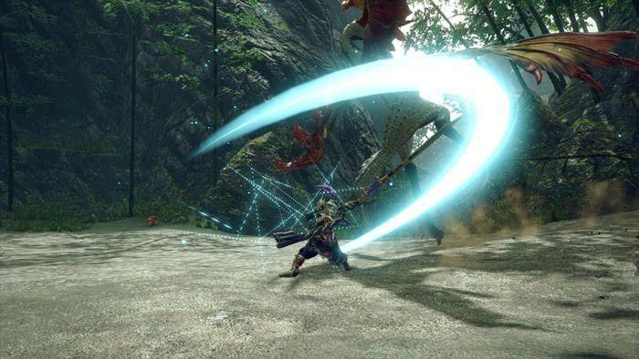 Monster Hunter Rise - Long Sword Hunter Silkbind Attack Serene Pose