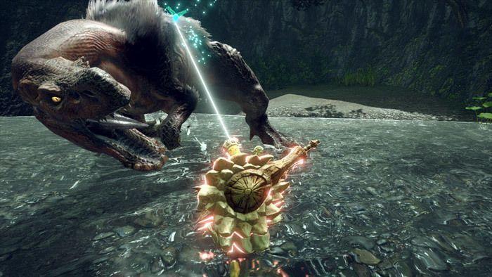 Monster Hunter Rise - Hammer Hunter Silkbind Attack Spinning Bludgeon