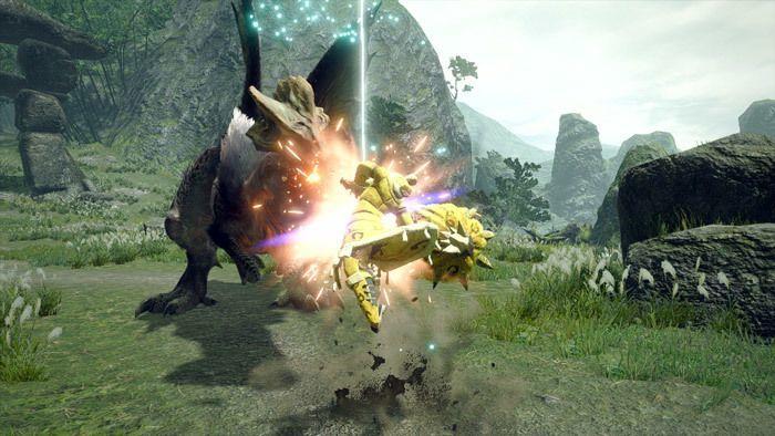 Monster Hunter Rise - Hammer Hunter Silkbind Attack Impact Crater