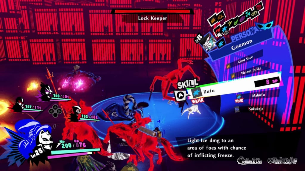 Persona 5 Strikers - Sendai Jail Lock Keeper Sword Use Ice Attacks