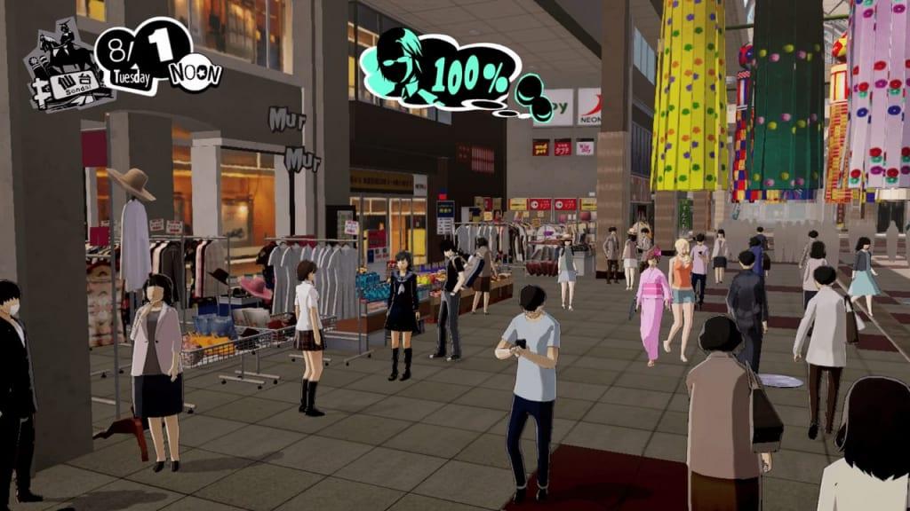 Persona 5 Strikers - Sendai Rumor Bibliophile and Short-Haired Girl