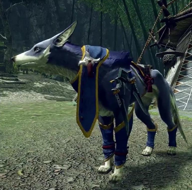 Monster Hunter Rise - Kamura Palamute Armor Set