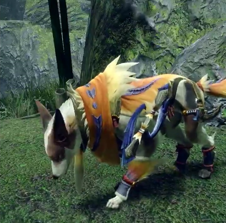 Monster Hunter Rise - Great Izuchi Palamute Armor Set