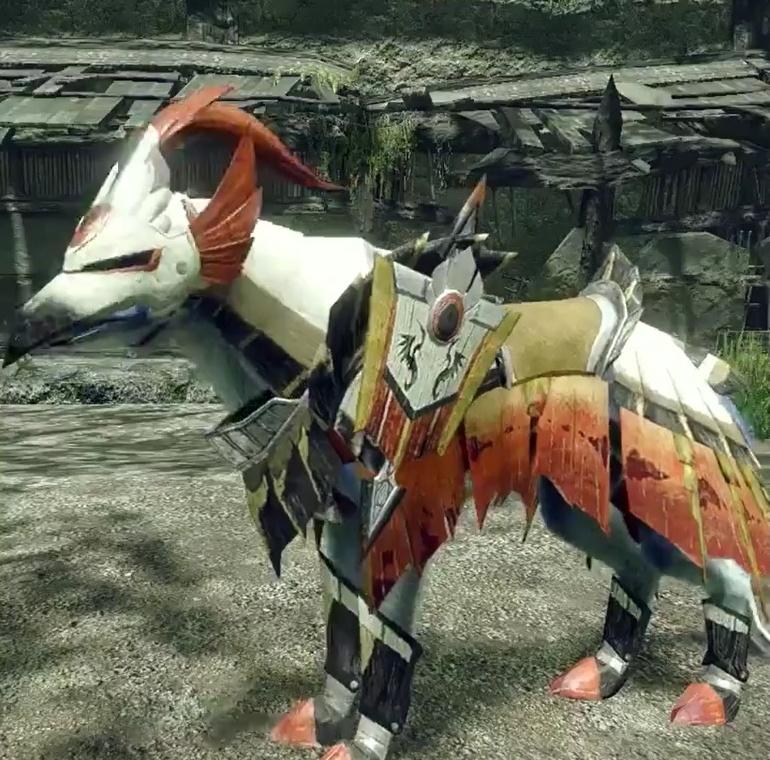 Monster Hunter Rise - Aknosom Palamute Armor Set