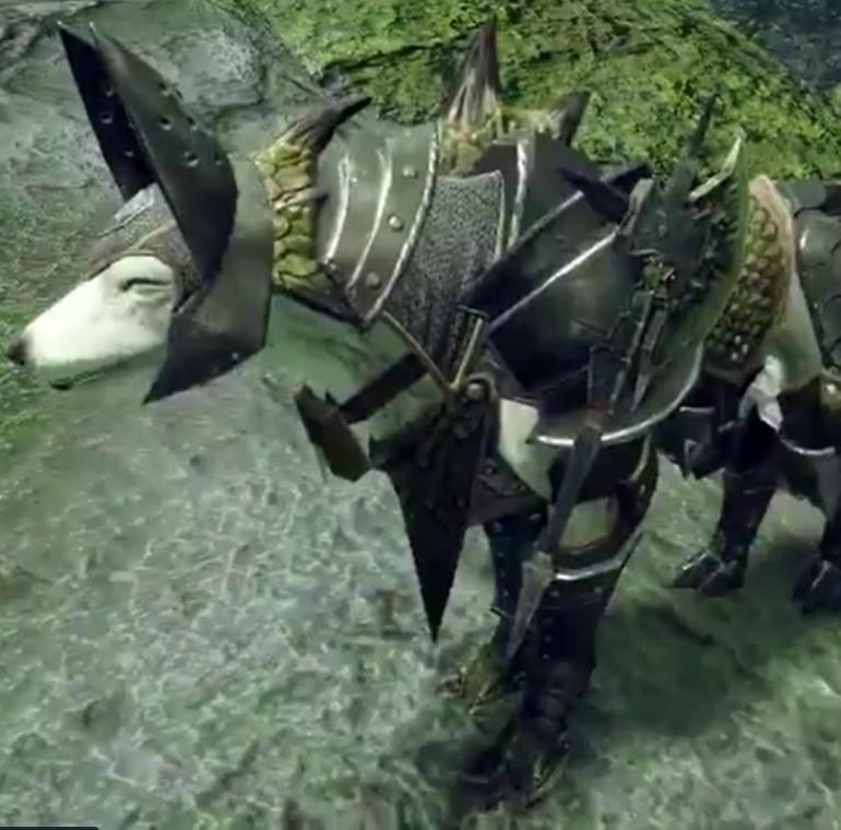 Monster Hunter Rise - Rathian Palamute Armor Set