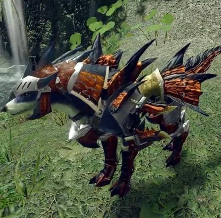 Monster Hunter Rise - Rathalos Palamute Armor Set