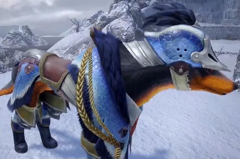 Monster Hunter Rise - Great Baggi Palamute Armor Set