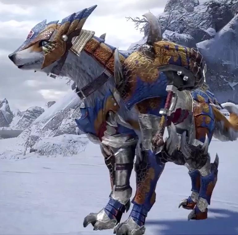 Monster Hunter Rise - Tigrex Palamute Armor Set