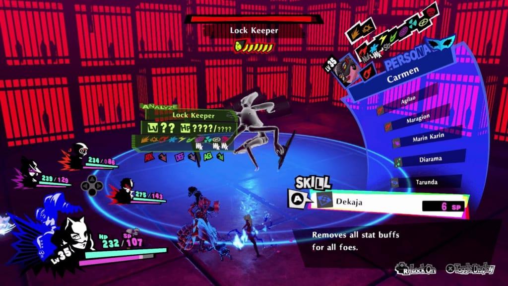 Persona 5 Strikers - Sapporo Jail Lock Keeper Shield Remove Enemy Buffs