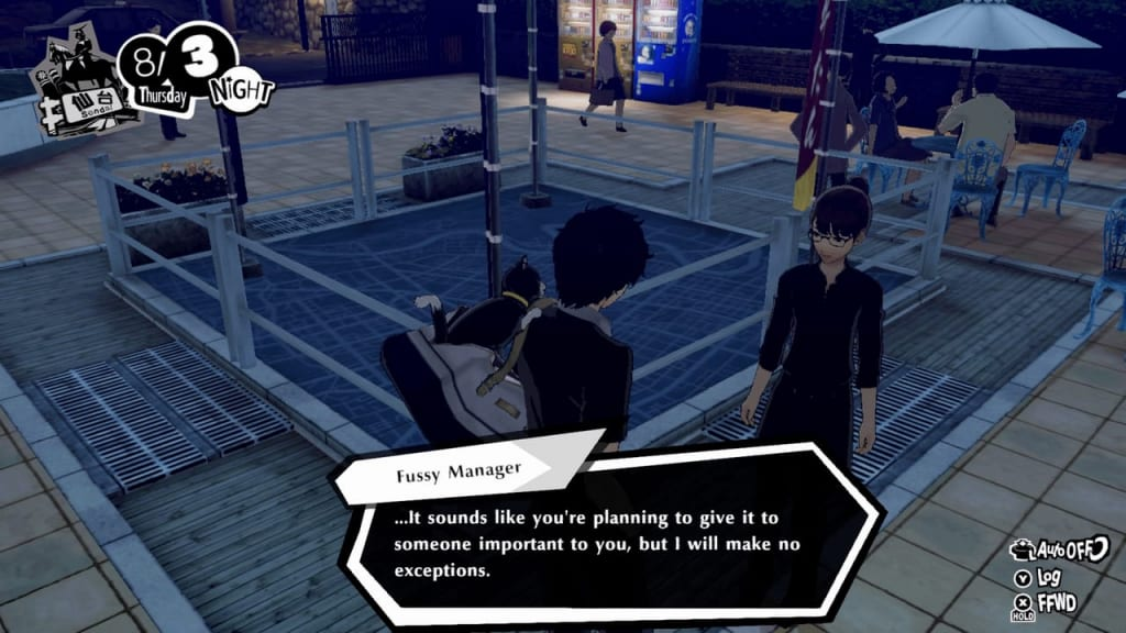 Persona 5 Strikers - Lending a Paw Request Mt. Aoba Park Fussy Manager Location