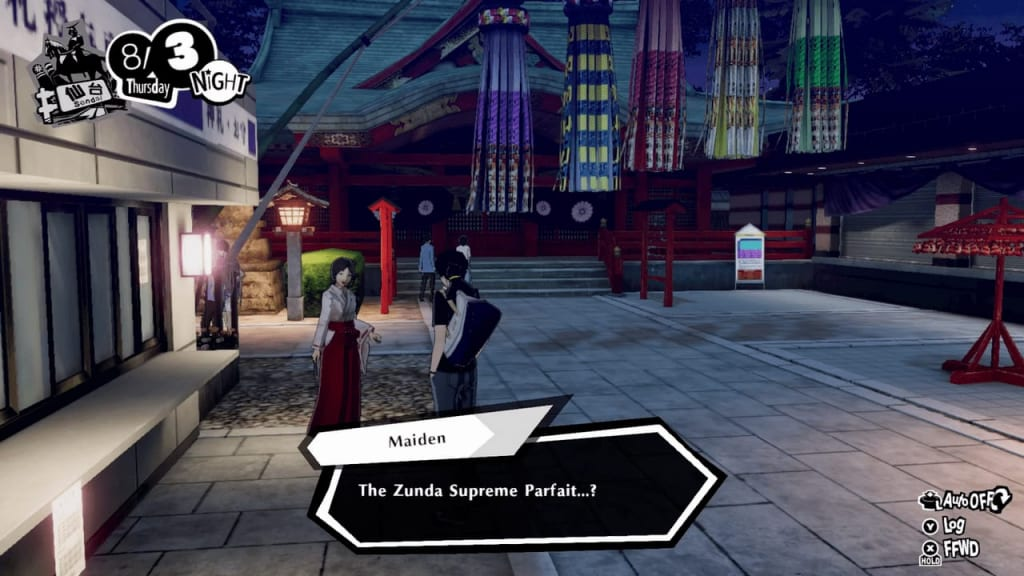 Persona 5 Strikers - Lending a Paw Request Mt. Aoba Park Maiden Location