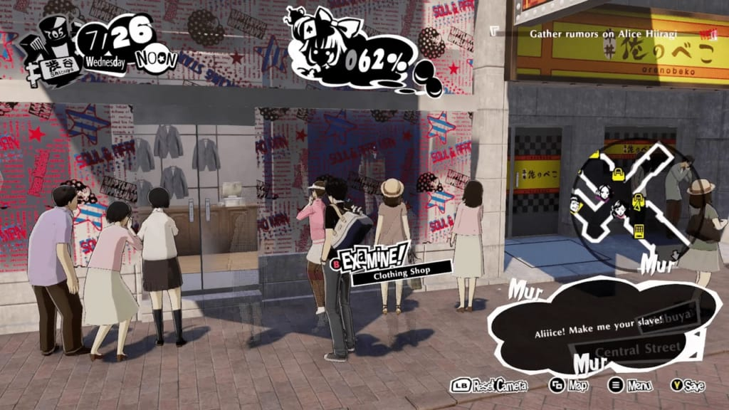 Persona 5 Strikers - Shibuya Intel Rumor Gathering Location Apparel Shop Manager